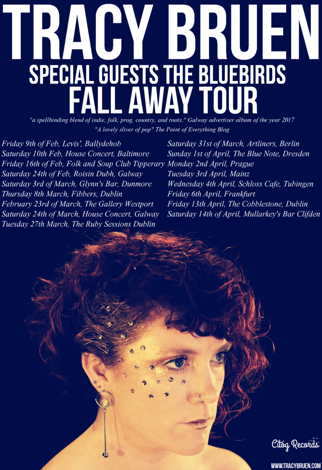Tracy Bruen fall away tour poster